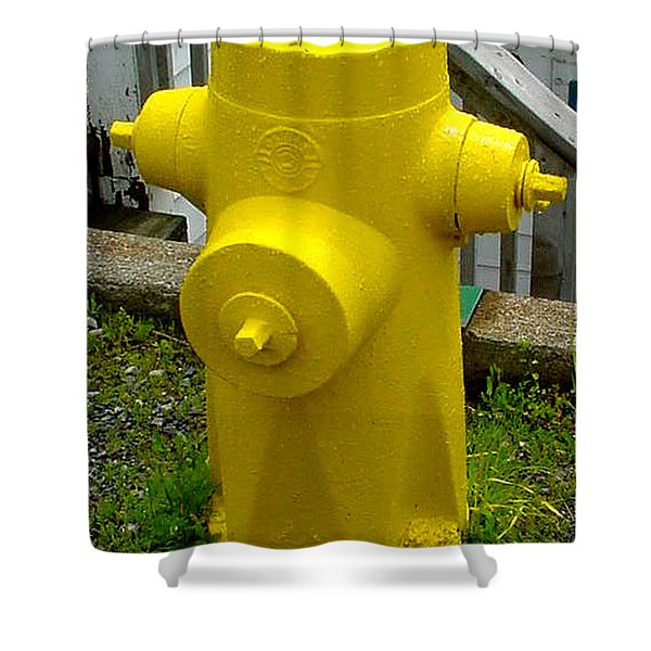 Yellow Hydrant Shower Curtain