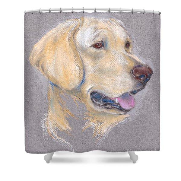 Yellow Labrador Retriever Portrait Shower Curtain