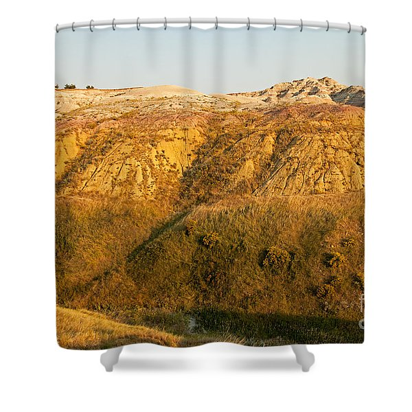 Yellow Mounds Overlook Badlands National Park Shower Curtain