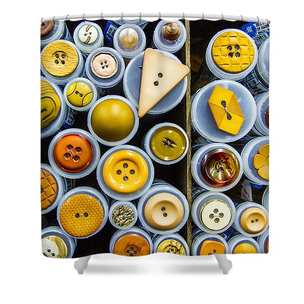 Yellow Palate Shower Curtain