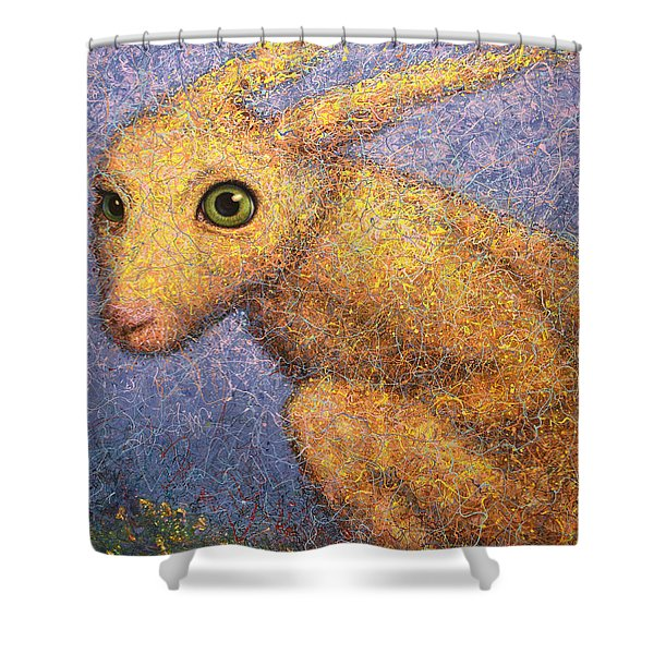 Yellow Rabbit Shower Curtain
