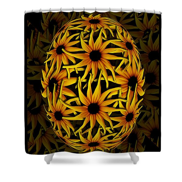 Yellow Sunflower Seed Shower Curtain