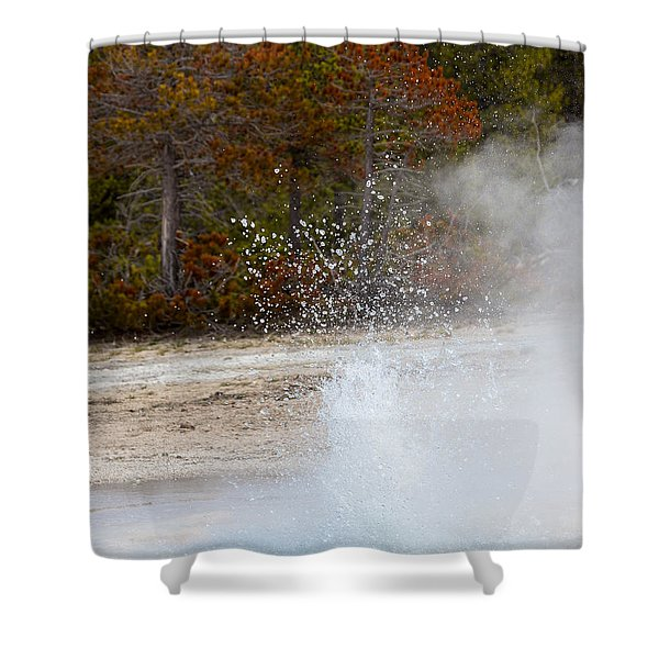 Yellowstone Geyser Shower Curtain