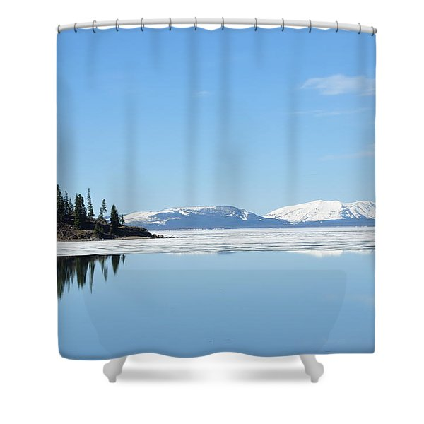 Yellowstone Lake In The Spring Shower Curtain