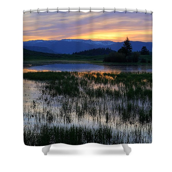 Yellowstone Sunrise Shower Curtain