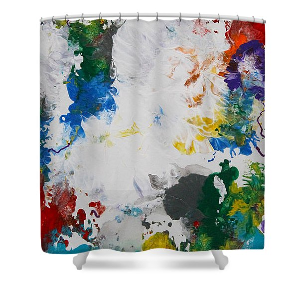 Yes Abstract Shower Curtain