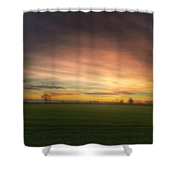 Yesterday's Sunset Shower Curtain
