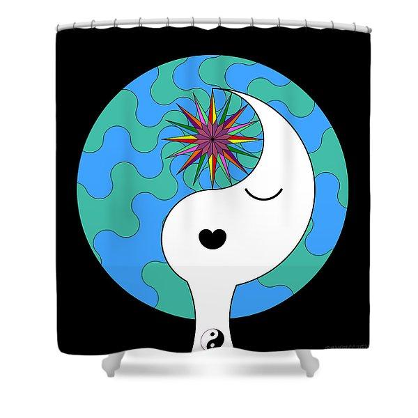 Yin Yang Crown 4 Shower Curtain