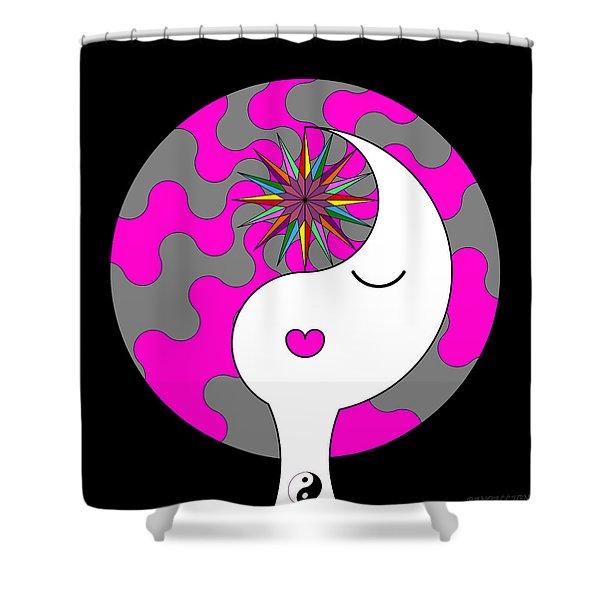 Yin Yang Crown 6 Shower Curtain