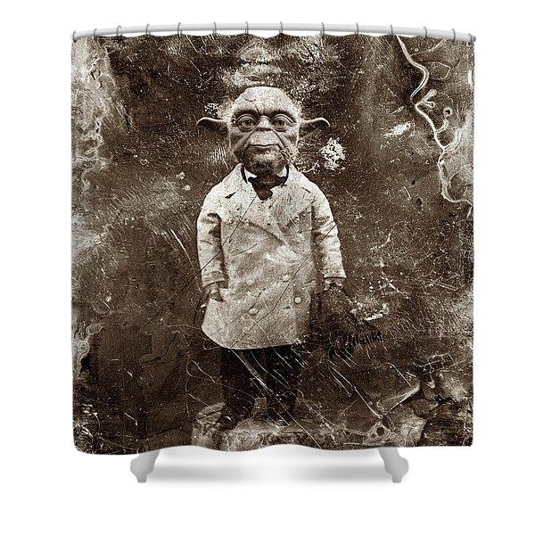 Yoda Star Wars Antique Photo Shower Curtain