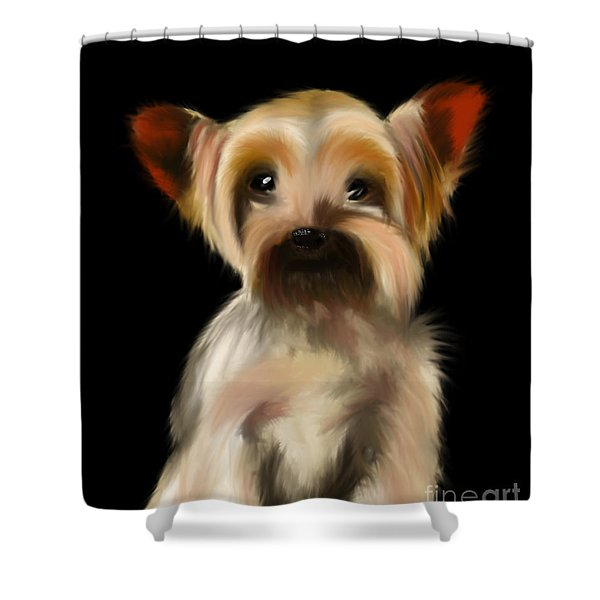 Yorkshire Terrier Pup Shower Curtain