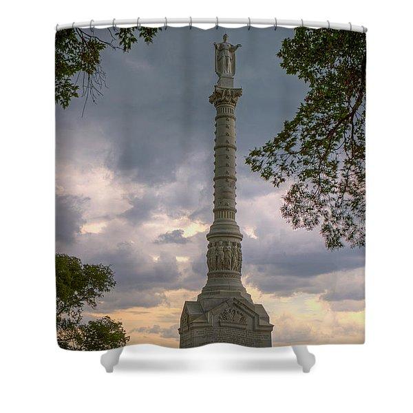 Yorktown Victory Monument Shower Curtain