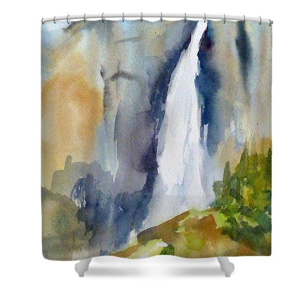 Yosemite Falls Springtime Shower Curtain