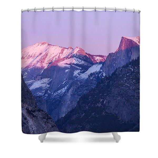 Yosemite Valley Panorama Shower Curtain
