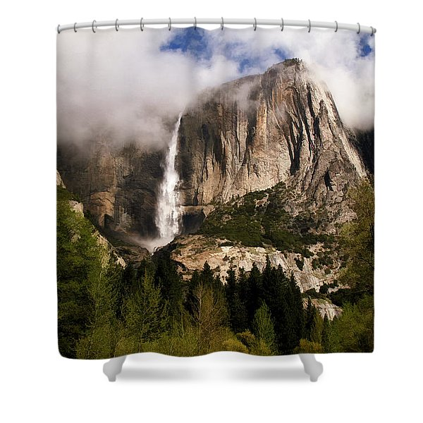 Yosemite Valley View Shower Curtain