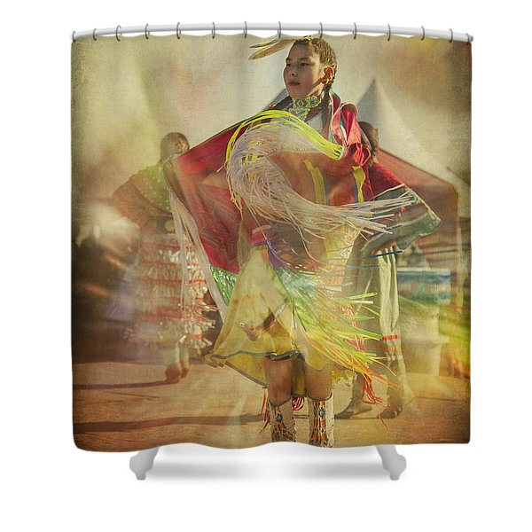 Young Canadian Aboriginal Dancer Shower Curtain