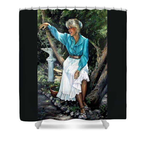 Young Self Portrait Shower Curtain