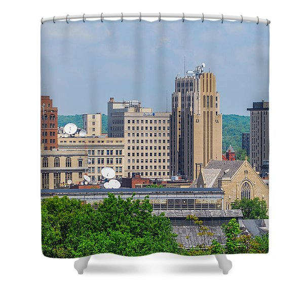 D39u-2 Youngstown Ohio Skyline Photo Shower Curtain