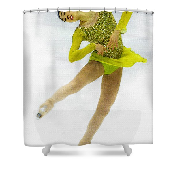 Yuna Kim Of Rebublic Of Korea Shower Curtain