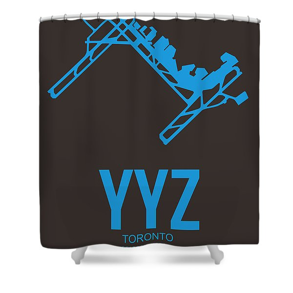 Yyz Toronto Airport Poster 2 Shower Curtain