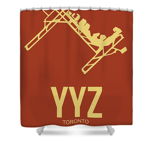 Yyz Toronto Airport Poster 3 Shower Curtain