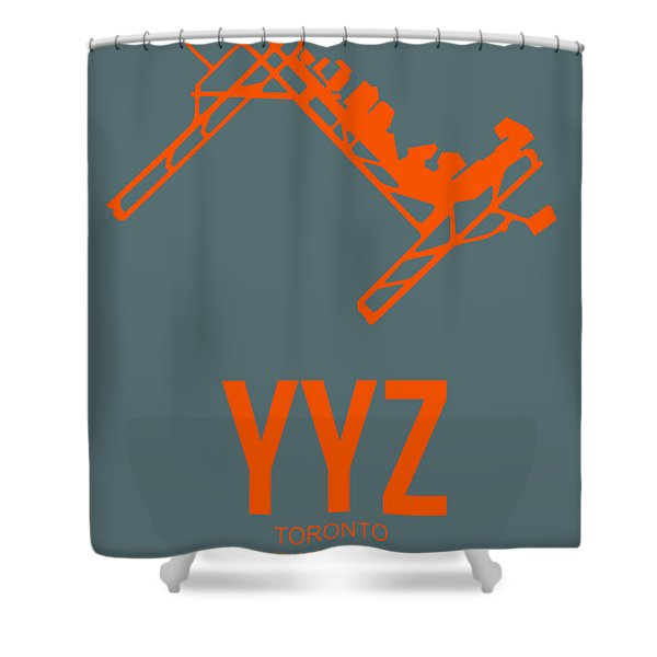 Yyz Toronto Airport Poster Shower Curtain