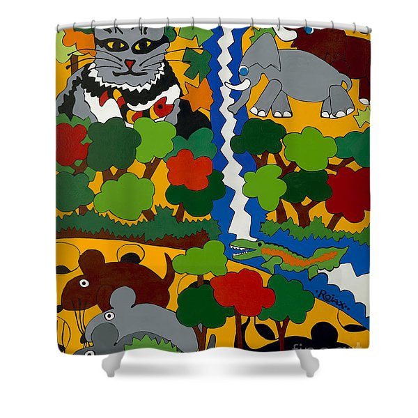 Zane Grey In Africa Shower Curtain