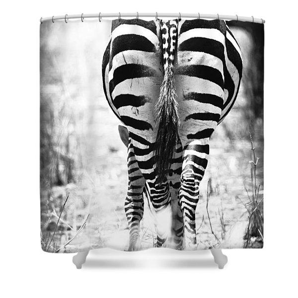 Zebra Butt Shower Curtain