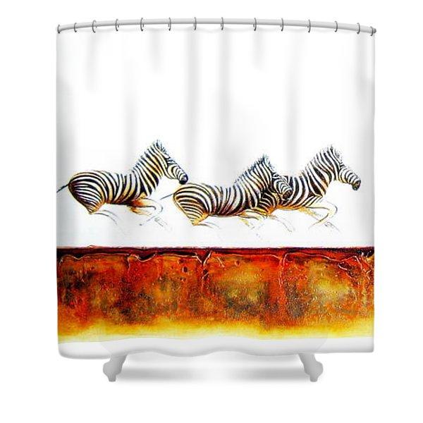Zebra Crossing - Original Artwork Shower Curtain
