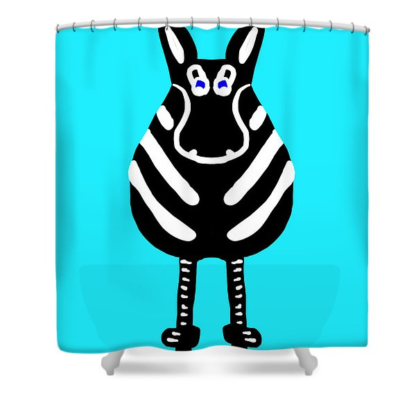 Zebra - The Front View Shower Curtain