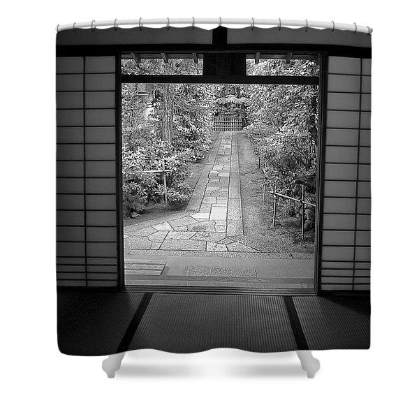 Zen Garden Walkway Shower Curtain