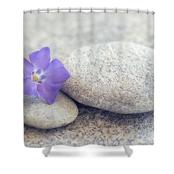 Zen Periwinkle Shower Curtain