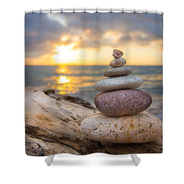 Zen Stones Shower Curtain