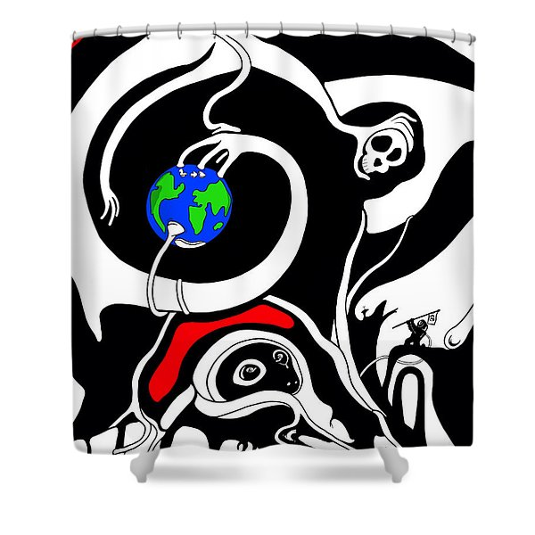 Zero Gravity Shower Curtain