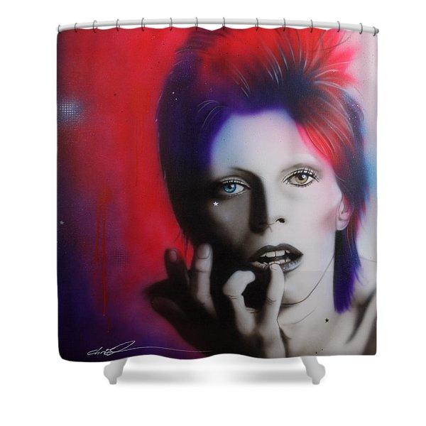 Ziggy Stardust Shower Curtain