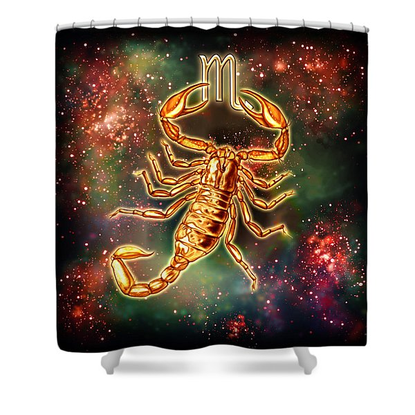 Zodiac Scorpio Shower Curtain