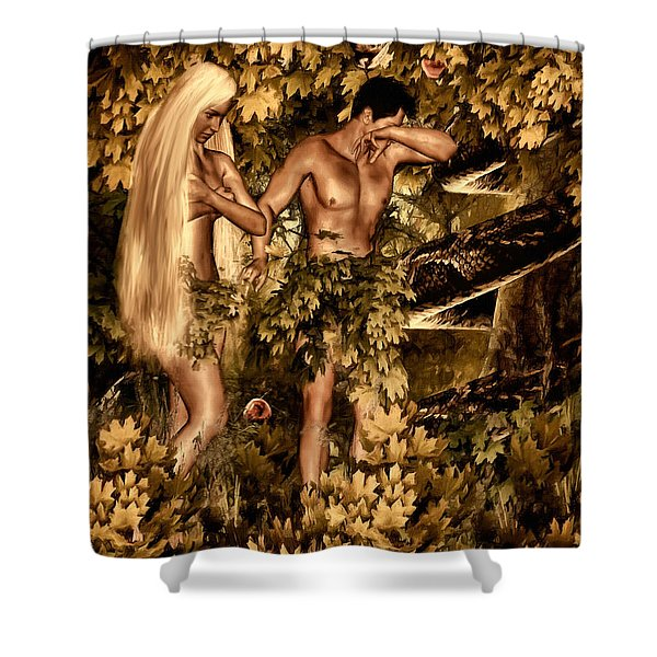 Birth Of Sin Shower Curtain