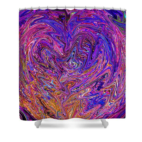 Love From The Ripple Of Thought  V 6  Shower Curtain