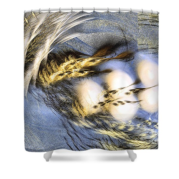 Promise Me Spring Will Come - Abstract Art Shower Curtain