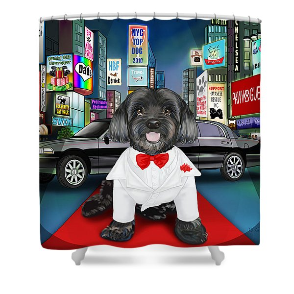 Sir Cuba Of Chelsea In Times Square Nyc Shower Curtain