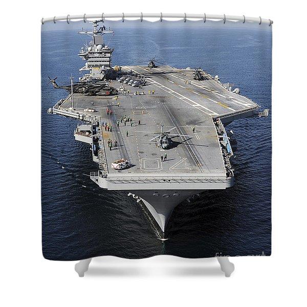 Aircraft Carrier Uss Carl Vinson Shower Curtain