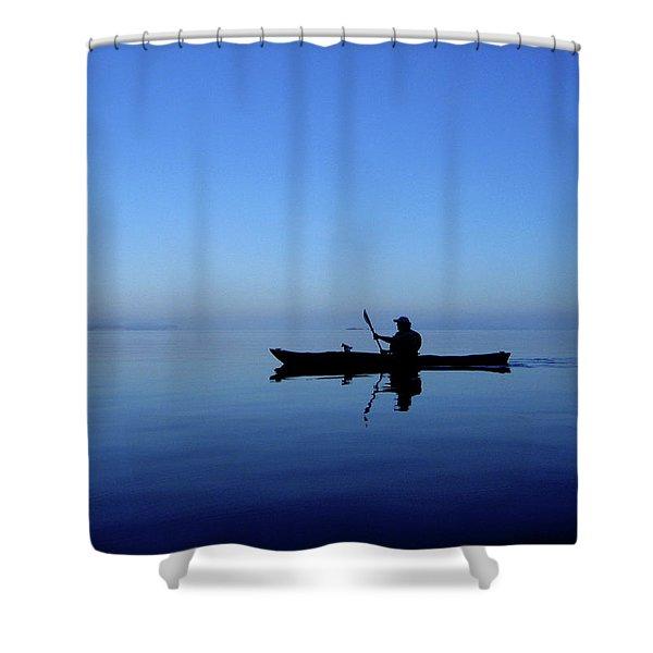 Shower Curtain featuring the photograph Serenity Surrounds by Lorraine Devon Wilke