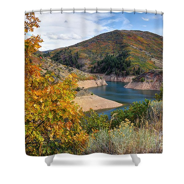 Autumn At Causey Reservoir - Utah Shower Curtain