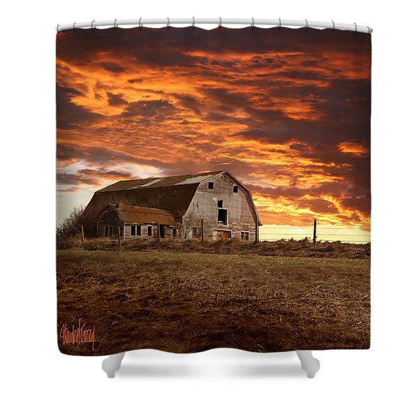 Barn On Highway 21 Shower Curtain