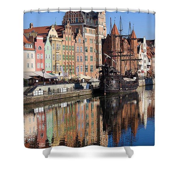 City Of Gdansk Shower Curtain