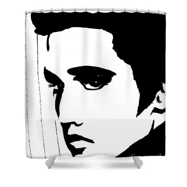 Elvis In Black And White Shower Curtain