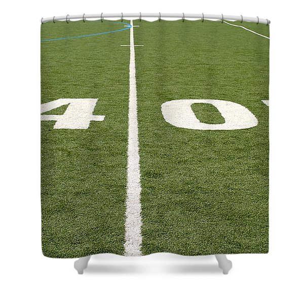 Football Field Forty Shower Curtain
