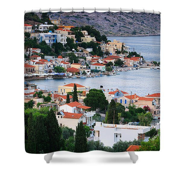 Lagada. Chios Greece  Shower Curtain