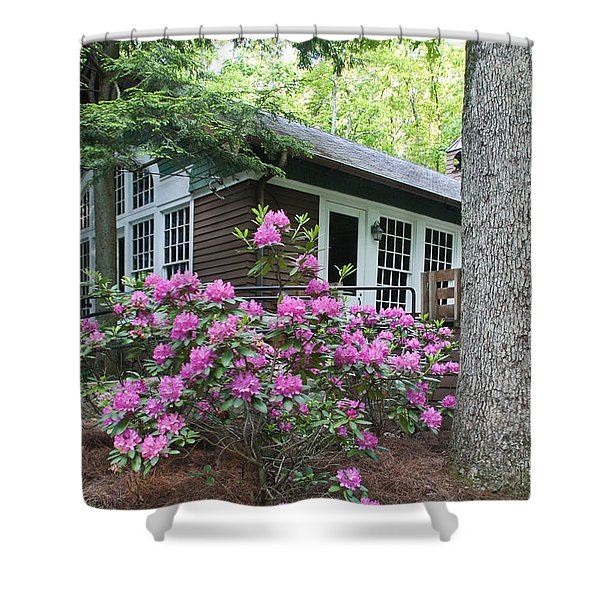 Little Brown Church In Spring Shower Curtain