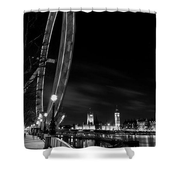 London Eye And London View Shower Curtain